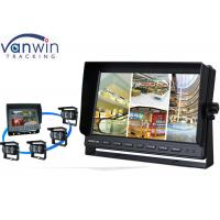 Quality Rack Mount 10 Inch HD Car TFT LCD On-board Monitor Display with Quad Pictures for sale