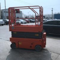Buy Manganese Steel Electric Aerial Reclaimer Orange Movable Lifting Platform at wholesale prices