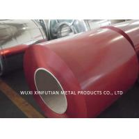 China PPGI Roof Sheet Prepainted Galvanized Steel Coil Color Blue  / Red / Green on sale