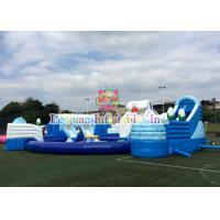 Outdoor 18M Inflatable Water Park Pool Slide Flire Retardant For Kids