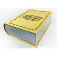 Buy Cardboard Book Shaped Storage Boxes , White Magnetic Gift Box Packaging at wholesale prices