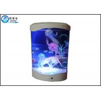 Buy 4L Desktop Jellyfish Custom Fish Tanks Colorfull LED Lights With Silicone Ornaments at wholesale prices