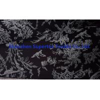 Buy Elastic Stretch Cotton Fine Stretch Twill Fabric Black White Pigment Print 20s*16s+70D at wholesale prices