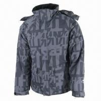 Quality Men's Ski Jacket, Waterproof and Breathable, Denim-look Fabric for sale