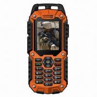 Quality IP67 Waterproof Rugged Quad-band GSM Mobile Phone with Dual-SIM Card for sale