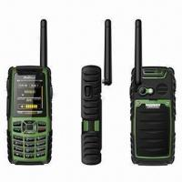 Quality Water-resistant Mobile Phones, Quadband GSM Phones with Walkie Talkie Within 5km Distance for sale