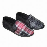 Quality Men's Casual Shoes for Indoor/Outdoor, w/ Cotton Cloth Upper, Fleece Lining and Injected TPR Outsole for sale