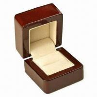 Quality Wooden Jewelry Box, Measures 85x98x92mm for sale