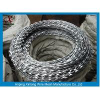 Quality Multi Type Stainless Steel Razor Wire / Barbed Wire Roll For Grass Boundary for sale