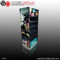 Quality cosmetic floor display stand with double sides for sale