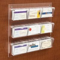 Quality White 9-Pocket Acrylic Business Card Holder for Wall, Fits 540, Clear for sale
