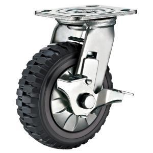 "Quality Swivel Brake Caster Heavy Duty Polyurethane Wheel Castor 8"" x  2"" for sale"