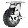 "Buy cheap Swivel Brake Caster Heavy Duty Polyurethane Wheel Castor 8"" x 2"" from wholesalers"