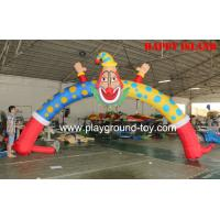 Quality Outdoor Arch Cartoon Kids Inflatable Bouncer For Mascot Costume Wind-proof With Blower RQL-00504 for sale