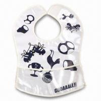 Quality Lovely Baby Bib, ODM Orders are Welcome, Made of Soft Plastic (PE) for sale