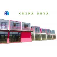 China Earthquake Proof Double Storey Prefab Houses Cargo Container Hotel Room Design on sale