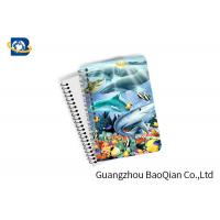 Quality Eco Friendly Paper 3D Lenticular Notebook Ocean / Animal Pattern With Spiral for sale