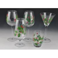 Quality Colorful Decorated Hand Painted Glass Stemware For Martini Wine for sale
