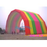 Quality Special Rainbow Inflatable Arches Large Event Balloon Entrance Arch for sale