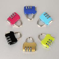 Quality Travel Luggage Resettable Combination Padlock 3 Numbers For Password Suitcase for sale