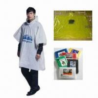 Quality PE Waterproof Poncho, Various Sizes are Available for sale