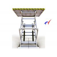 Quality 100 M/S Electric Scissor Lift Table , Steady Up / Down Electric Hydraulic Lift Table for sale