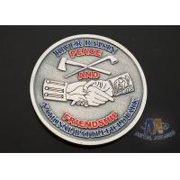 China USA Taekwondo Custom Challenge Coins Soft Enamel Both Side Design 38.1MM on sale