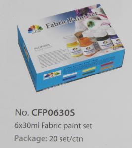 Quality Washable Art Painting Colours Fabric Paint Set For Kids 6 X 30ml 6 Colors Per Set for sale