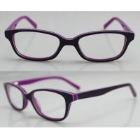 Quality Purple / Orange Hand Made Kids Eyeglasses Frames , Eye Spectacles Frames for sale