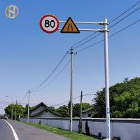 Quality Hot Dip Galvanized Road Sign Pole 6-15M With ISO 9001 Certification for sale