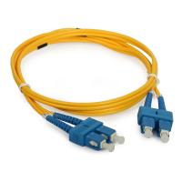 Quality Telecommunication SC Duplex fiber optical patch cord with UPC / APC Polishing for sale