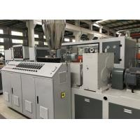 Quality Plastic Profile Production Line Upvc Extrusion Machinery With Twin Screw Extruder for sale