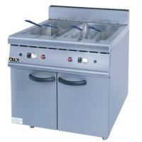Quality 2 Tank 4 Basket Gas Fryer with Cabinet Stainless Steel Floor Stand Gas Fryer FMX-WE154A for sale