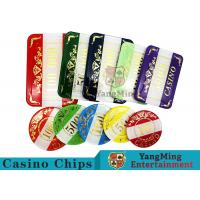 Quality Casino Style Numbered Poker Chip Set Bright Color With Customized Print Logo for sale