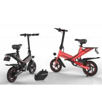 Quality Brushless Motor 400W Portable Folding Electric Bike Lithium Battery Power Supply for sale