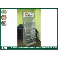 Quality Metal Shelves Racking Floor Display Rack For Lubricant Oil Bottles Supermarket for sale
