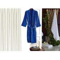 Quality Colored Luxury Hotel Patterned Toweling Bath Robe , Womens Luxury Dressing Gown for sale