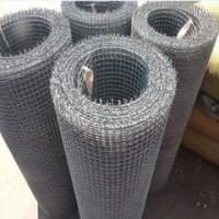 Quality hot sale galvanized and black square crimped wire mesh for sale