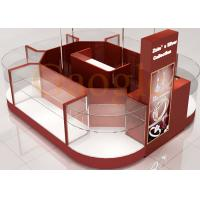 Buy Round Shaped Jewelry Showcase Kiosk / Mall Jewelry Kiosk Wooden 3 Layers Glass Shelf at wholesale prices
