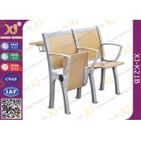 Quality Wooden College Student Desk And Chair Set With Aluminum Frame for sale