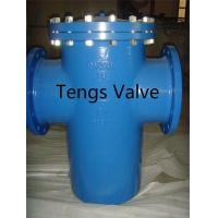 Quality Din Pn10 - Pn16 Epoxy Coating Basket Strainer / Filter, Cast Iron and Steel Single Basket Strainers for sale