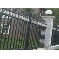 Quality Three Beams Zinc Steel Fence Single Ring For Bounding Wall , 50*50mm Rail for sale
