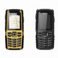 Quality Water-resistant Mobile Phones/Quad-band GSM Phones with Walkie Talkie and GPS Navigation Function for sale