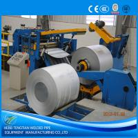 Quality Galvanised Steel Sheet Slitter Cutter Machine With Circular Knife Blade PLC Control for sale