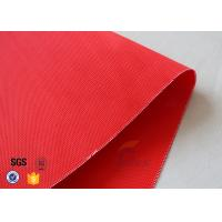 Quality Red Acrylic Coated Fiberglass Fabric For Industrial Fire / Welding Blanket for sale