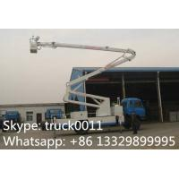 Quality hot sale dongfeng 153 190hp 18m-22m aerial working platform truck, dongfeng RHD 4*2 20m high altitude operation truck for sale