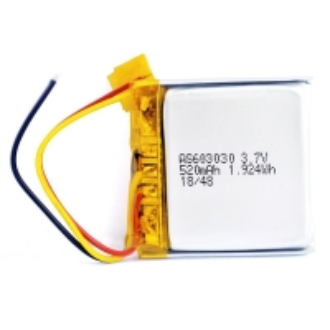 Quality Overcurrent Protection 520mAh 3.7 V Li Ion Polymer Battery PL603030 for sale