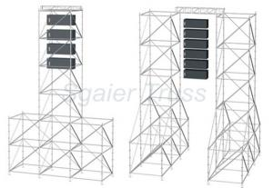 Quality Ringlock Aluminium Mobile Scaffold Structure Layher System for sale