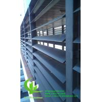 Quality guangdong manufacturer aluminium louvres for building decoration as per architect design 100mm size for sale