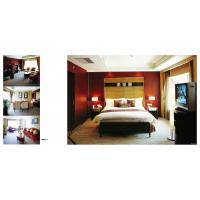 Buy cheap Luxury Ergonomic Hotel Bedroom Furniture Sets Glossy Oil Painting / Powder from wholesalers